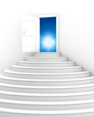 Opened door to a heaven