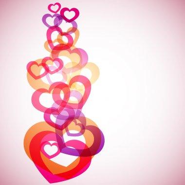 Hearts Background clip art vector