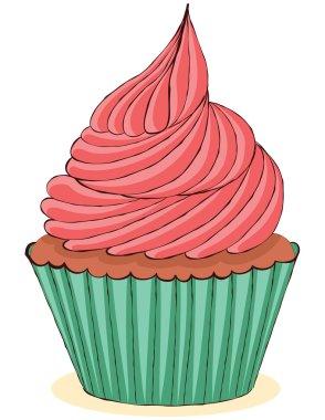 Sketchy yummy cupcake