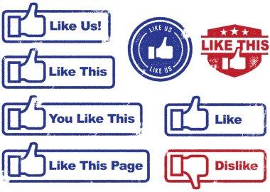 Facebook Like & Dislike Stamps