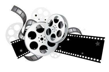 Movie elements with gradient & black color