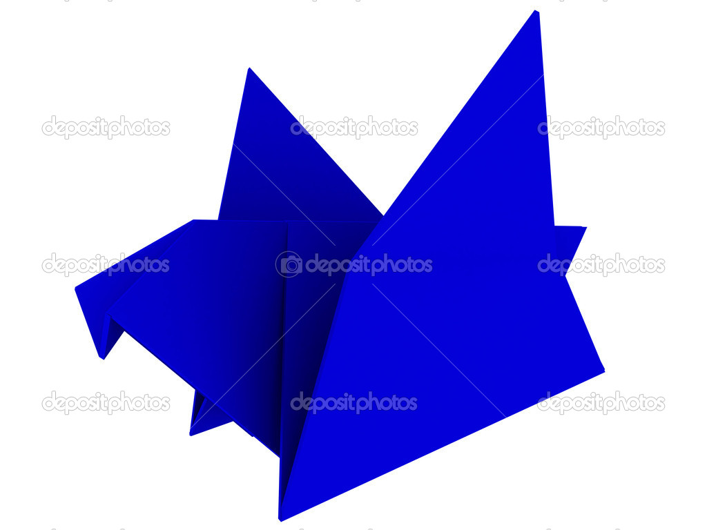 Origami stock photo farsh 6300622 seal made from paper origami 3d render photo by farsh jeuxipadfo Gallery