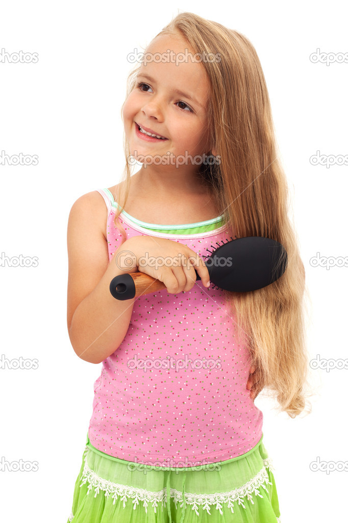Little girl combing hair stock photo ilona75 6410091 little girl combing hair stock photo 6410091 urmus Choice Image