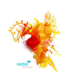 Abstract colorful splash illustration.