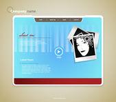 Webová šablona s foto. vektorové umění