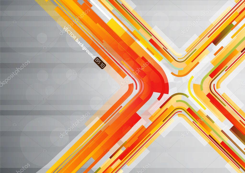 Abstract Orange Linien In X Form Mit Platz Fur Ihren Text