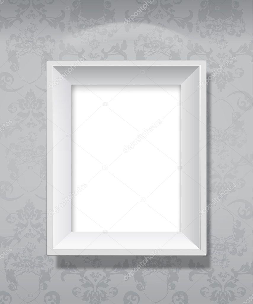 marco gris vacío colgar en la pared — Archivo Imágenes Vectoriales ...