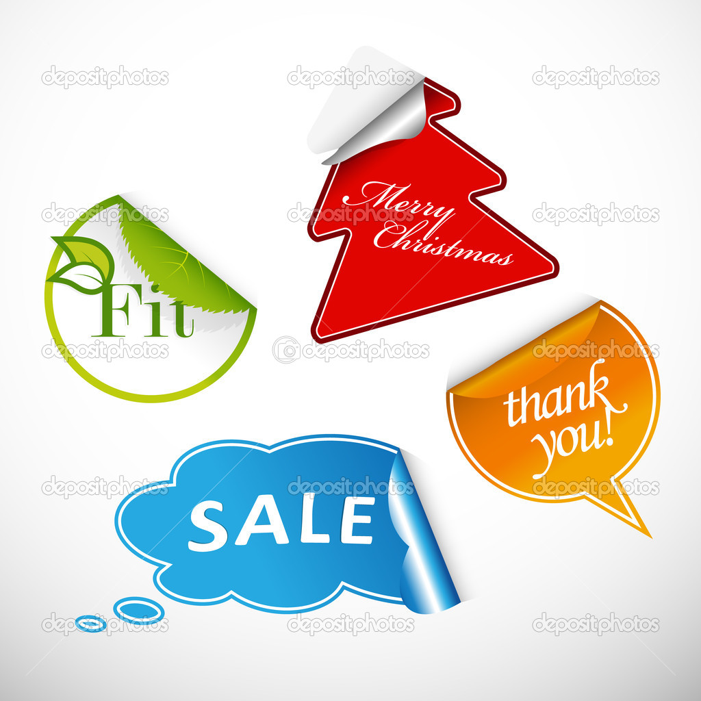 Set Of 4 Different Types Of Labels Stock Vector C Kormi 6378381