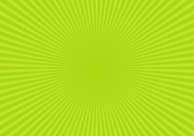 Green rays background. Vector