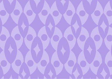Purple funky wallpaper pattern. Vector