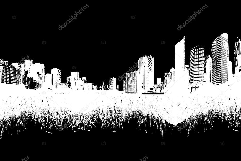 Ville nature vs vector art image vectorielle kormi for Ville nature