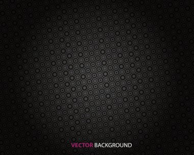 Abstract dark background with circles.