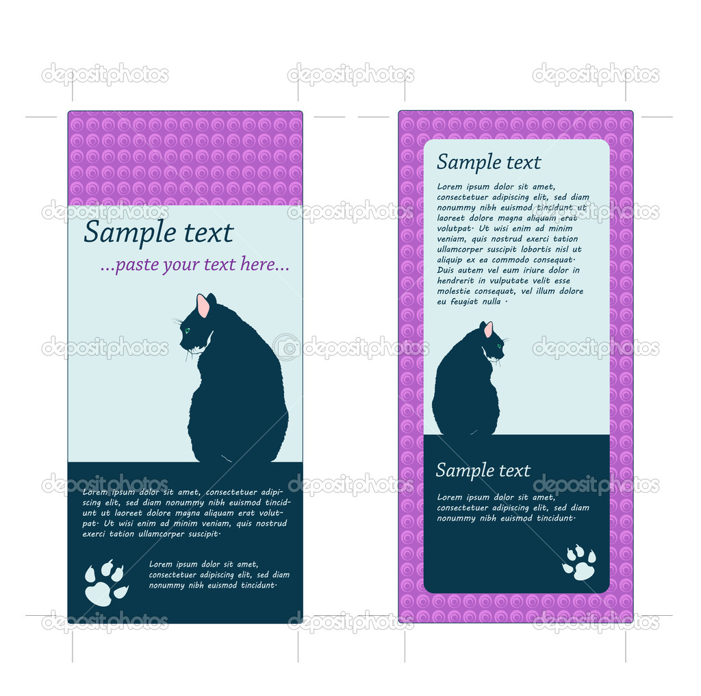 4x9 rack card template with crop marks stock vector tiggra 6312346