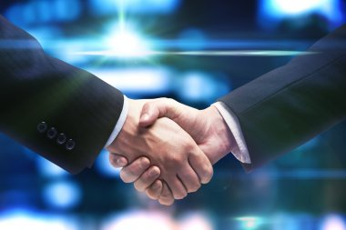 Handshake of two business