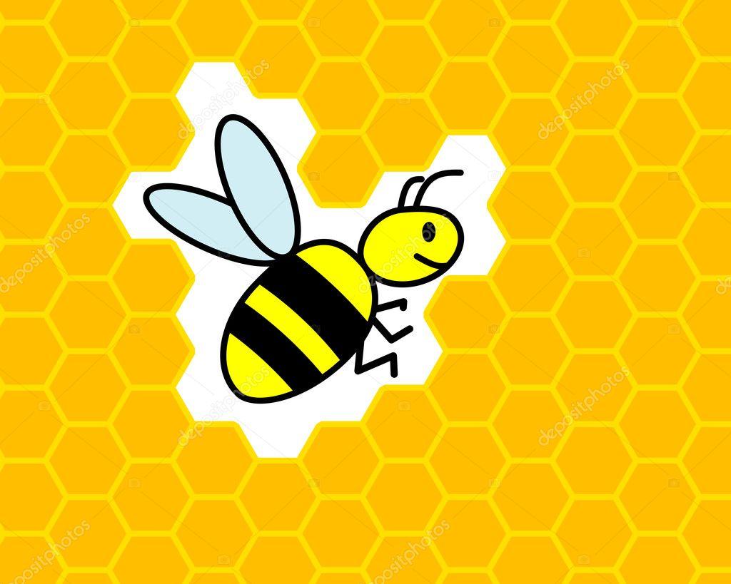 bee honeycomb u2014 stock vector toponium 6375075