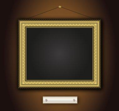 Frame old antique gold Baroque