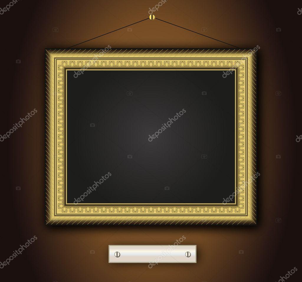 oro antiguo viejo marco barroco — Archivo Imágenes Vectoriales ...