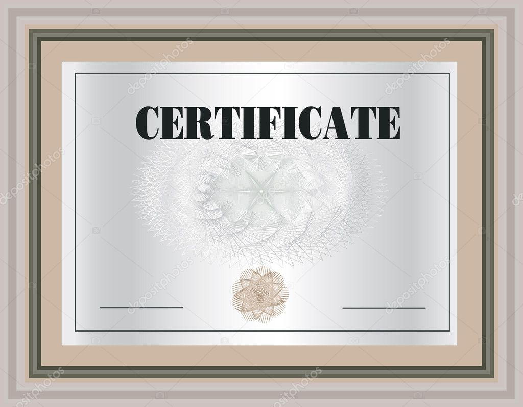 certificate frame vector template stock vector