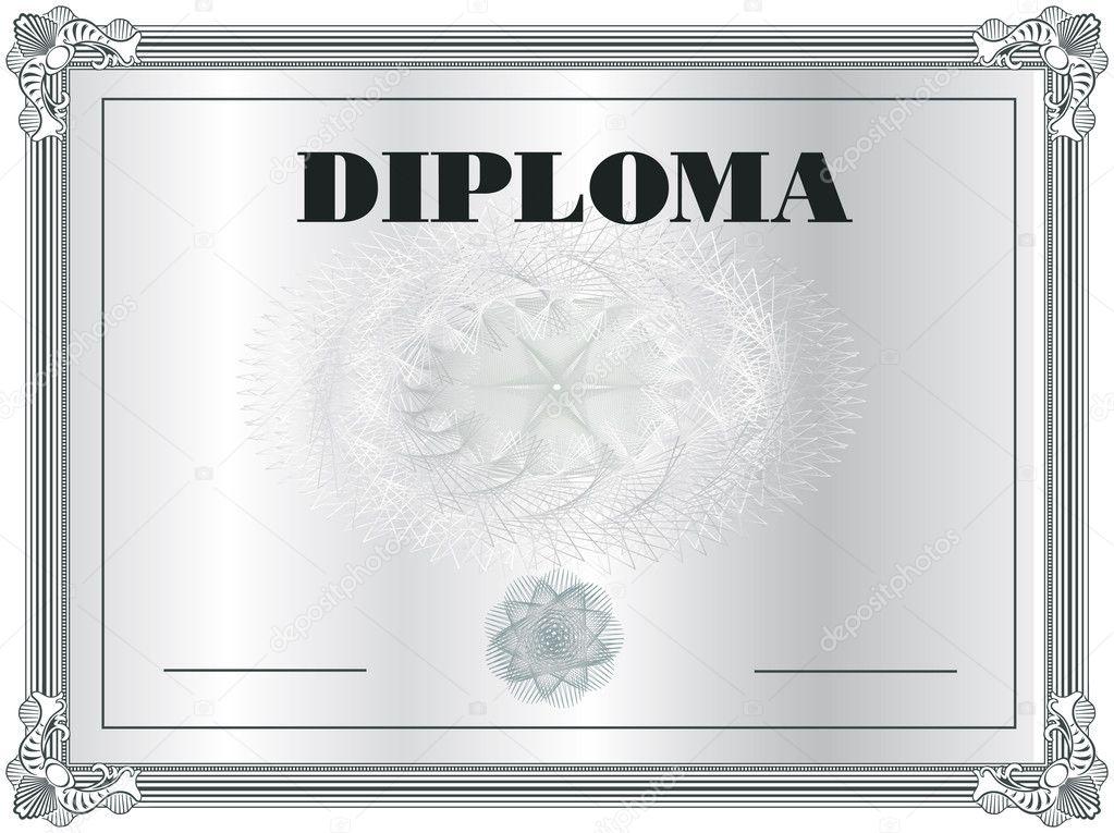 diploma frame vector sjabloon — Stockvector © Mondi.h #6337309