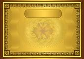 Raster Zertifikat Diplom gold Rahmen