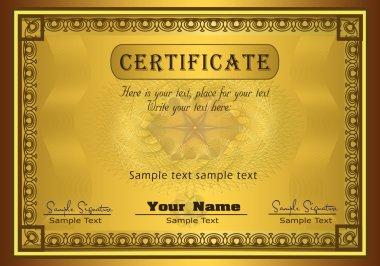 Certificate gold frame