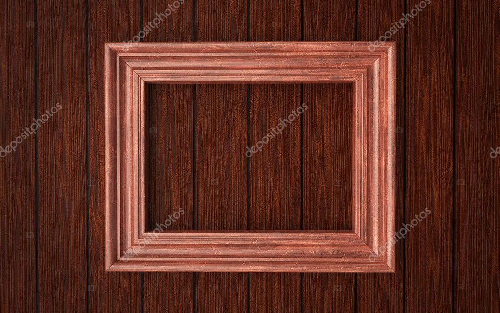 Wood frame on paneling — Stock Photo © acid_ninja #6478577