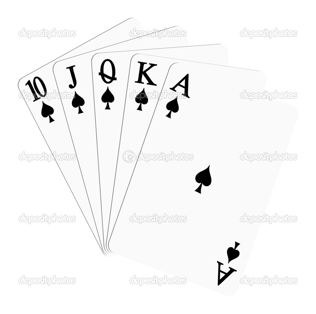 Playing cards spades stock vector jirkapravda 6675178 for Planning poker cards template