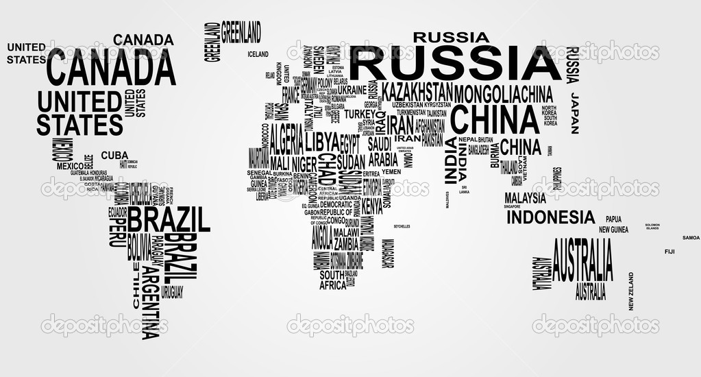 World Map With Country Name Stock Vector Willypd - World map with names