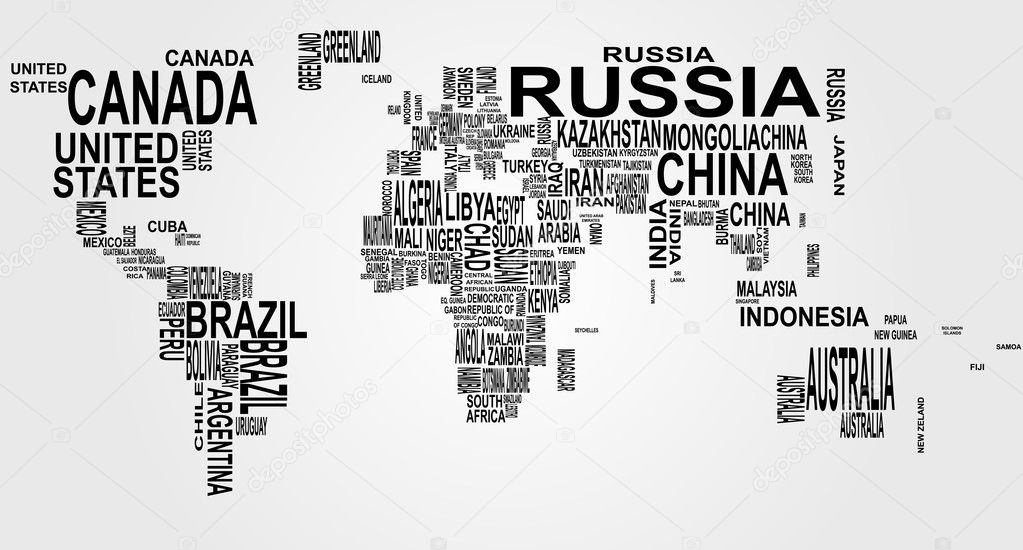 World map with country name stock vector willypd 6714644 world map with country name stock vector gumiabroncs Image collections