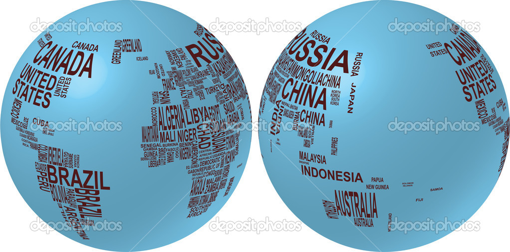 World map with country name stock vector willypd 6737737 world map with country name stock vector gumiabroncs Image collections