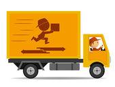 sledování doručení s řidičem a logo na palubě