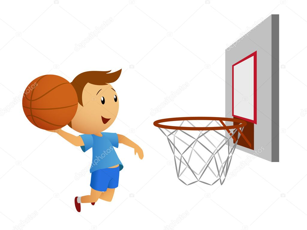 Animated: cartoon basketball player shooting | Cartoon