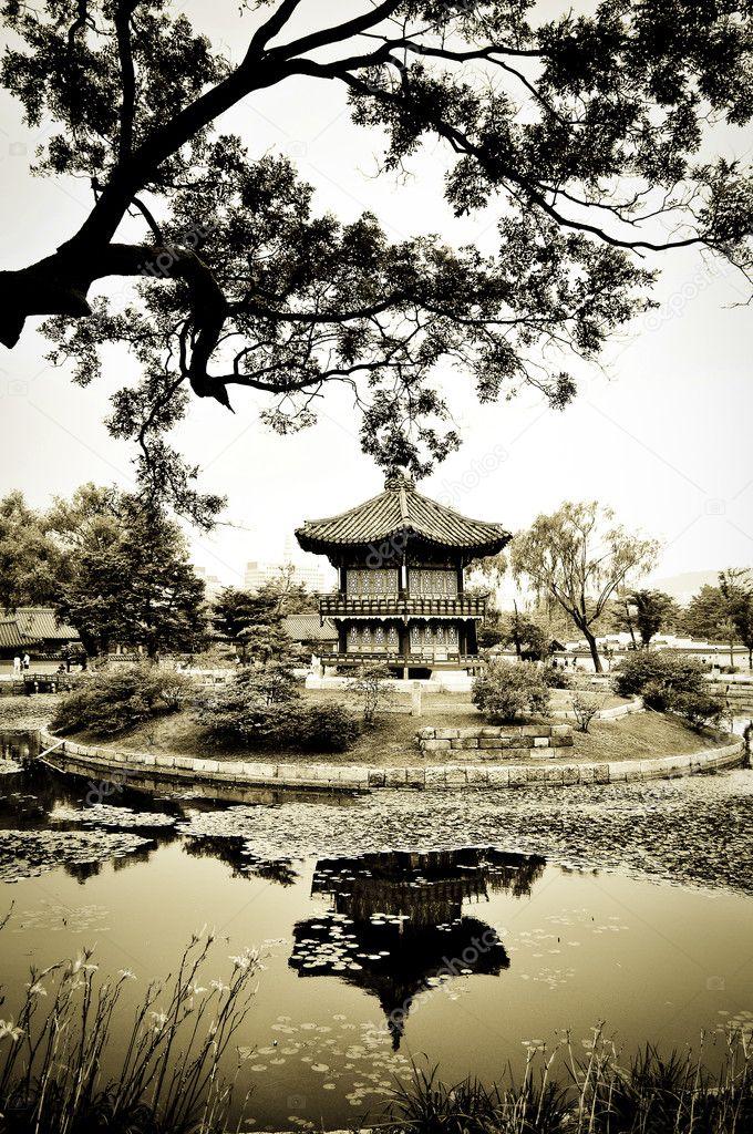Chinese Architecture in Garden
