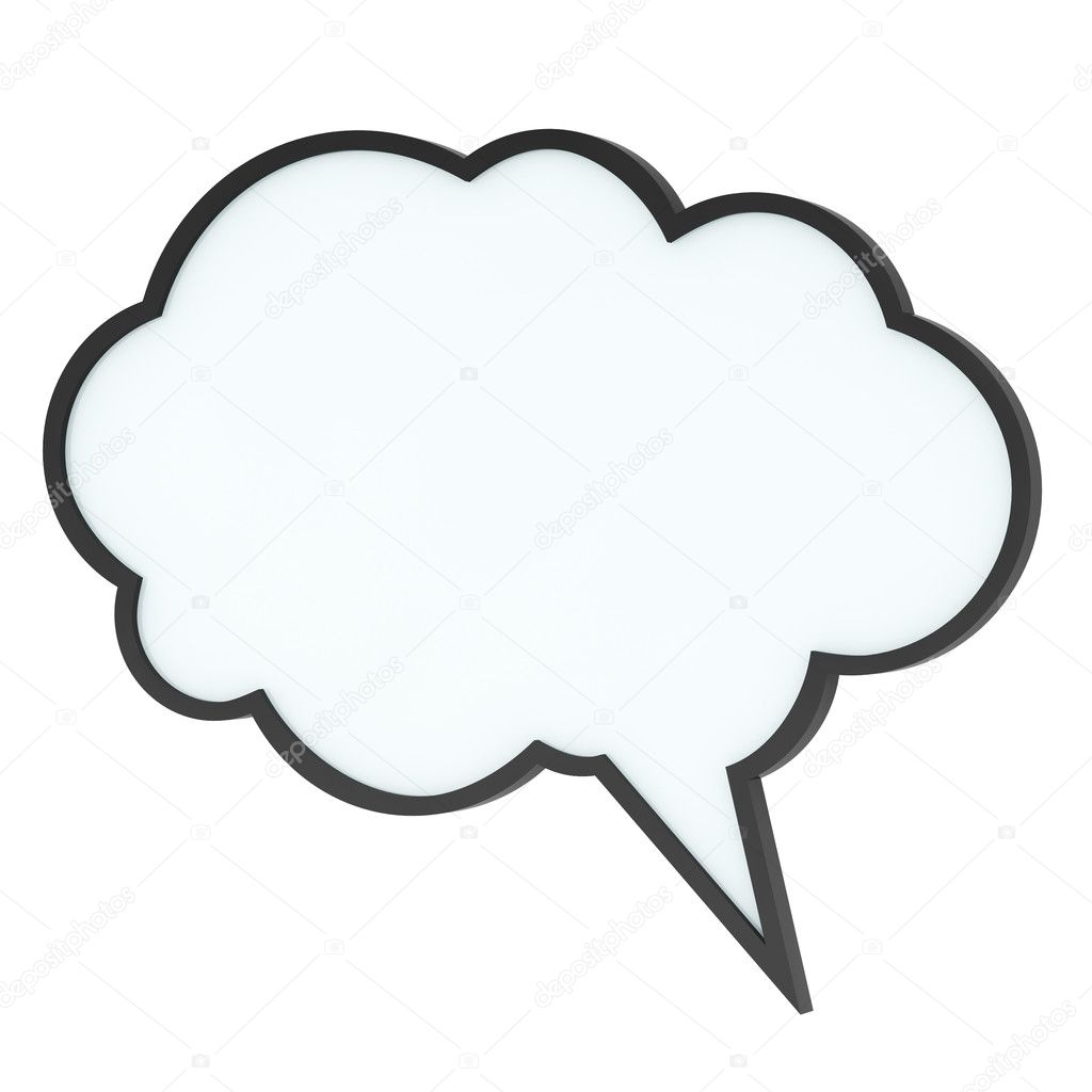 Empty high-quality speech bubble — Stock Photo ...
