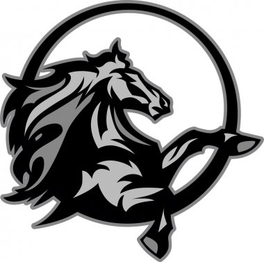Mustang Stallion Graphic Mascot Image