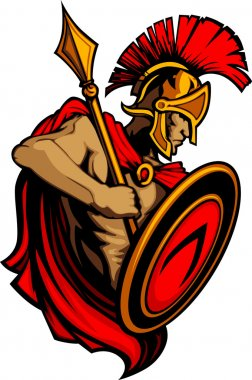 Spartan Trojan with Spear and Shield