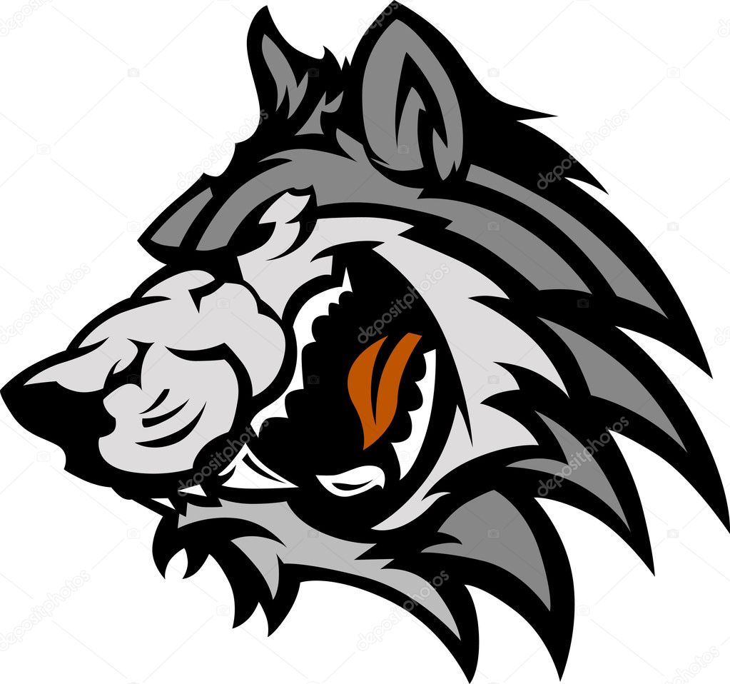 Wolf Mascot Graphic
