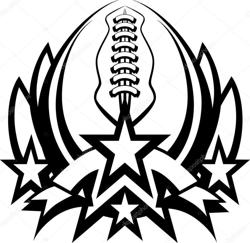 football vector graphic template with stars stock vector rh depositphotos com american football vector images american football vector files