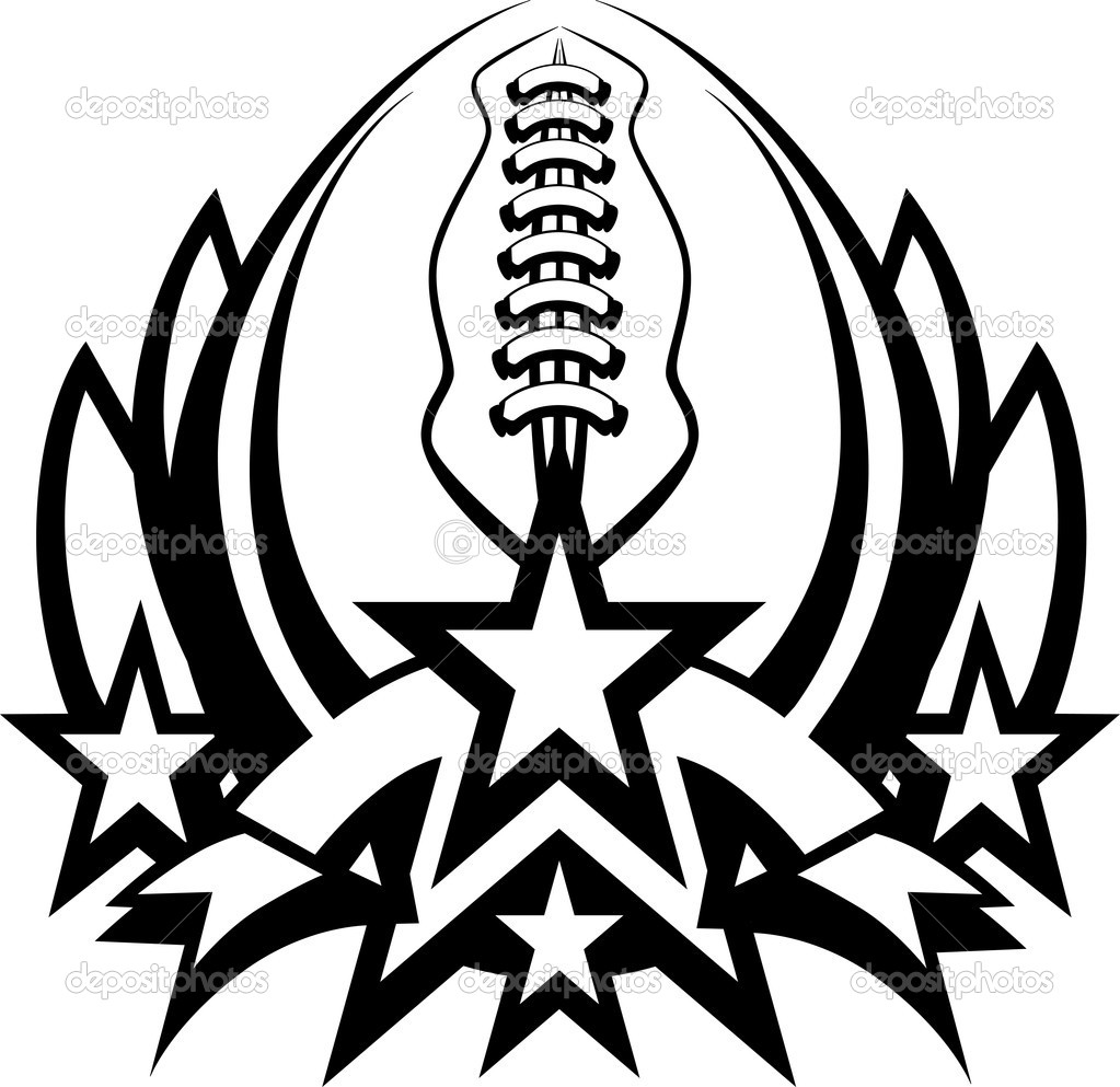 football vector graphic template with stars stock vector rh depositphotos com american football vector icon american football vectors