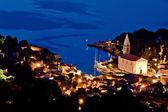 Veli Losinj-Luftbild am Abend