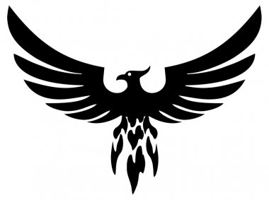 Phoenix bird (vector)