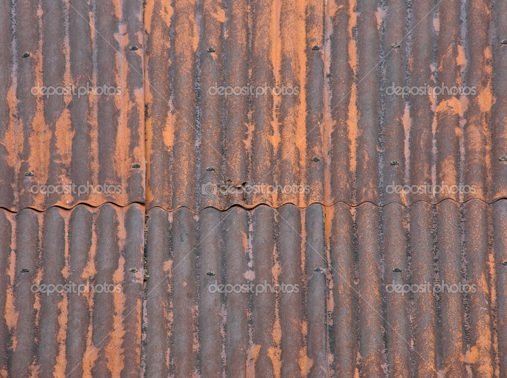 Captivating Rusty Metal Roof U2014 Stock Photo #6602975
