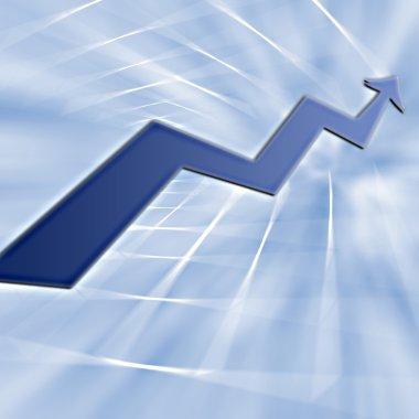Abstract : Bull run business graph