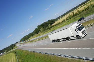 Truck transport on freeway