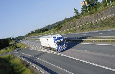 Trucking on scenic freeway