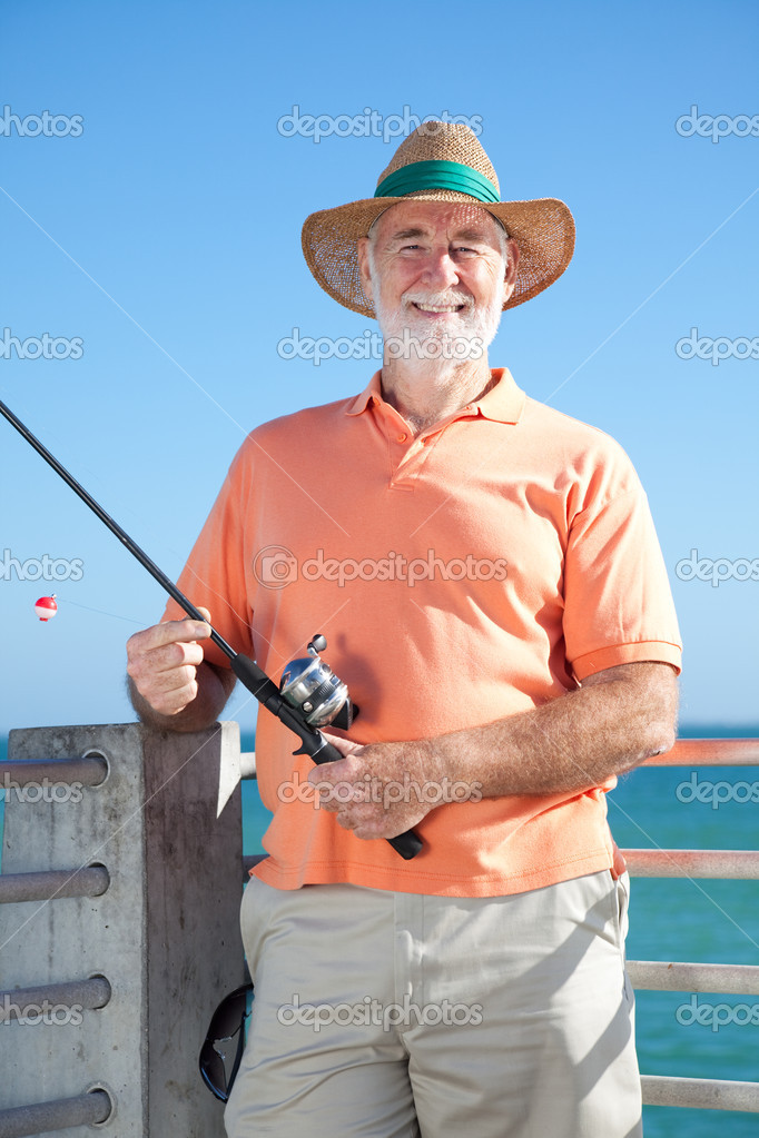 Friendly Senior Fisherman