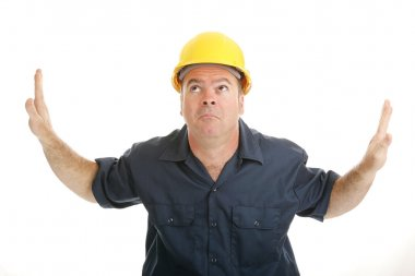 Construction Worker In the Middle