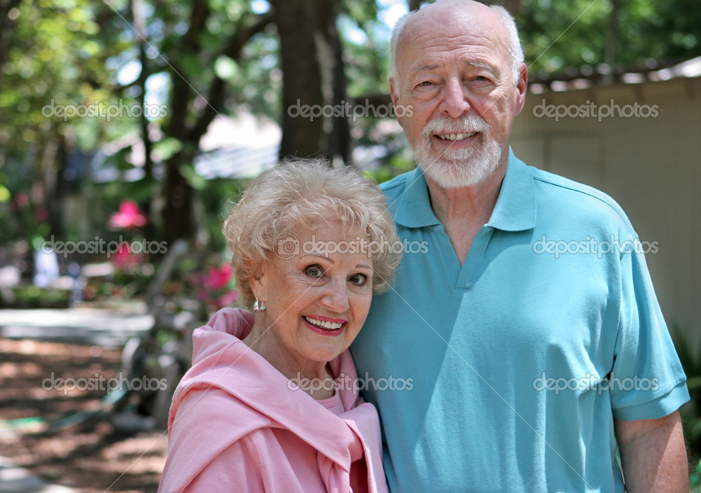 Senior Couple In Garden
