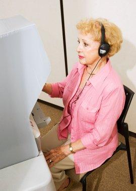 Senior Lady at the Polls