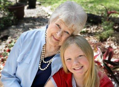 Grandmother & Child in Garden